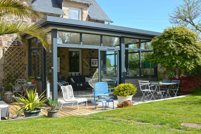 extension maison contemporaine veranda line